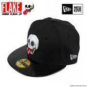 FLAKE × NEW ERA 59FIFTY Black Patent Leather