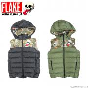 "FLAKE DOWN VEST 2014 MODEL ""MAD LEAF CAMO"""