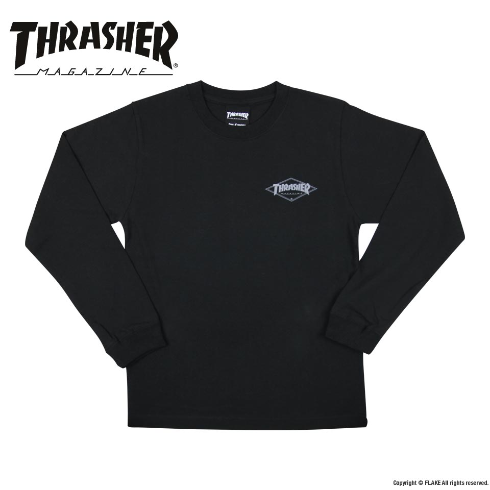 THRASHER DIAMOND LOGO YOUTH L/S T-SHIRTS