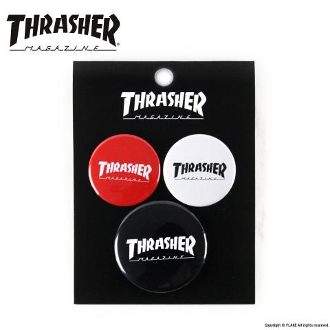 THRASHER CAN BADGE 3P SET 001