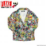FLAKE CAN BADGE SWEAT JACKET