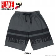 FLAKE STRIPED SWEAT SHORTS