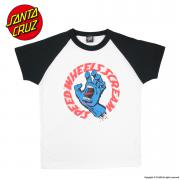 SANTA CRUZ SCREAMING HAND RAGLAN TEE