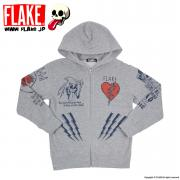 MAX TATTO SWEAT ZIP PARKA