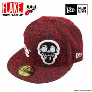 FLAKE × NEW ERA 59FIFTY Black Red Elephant Print