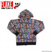 FLAKE SKATE DECK SWEAT ZIP PARKA